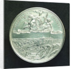 Medal commemorating the fortifications at Ostend; reverse by J. Roettier