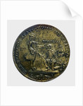 Commemorative medal depicting Vernon's attack on Cartagena, 1741; obverse by unknown