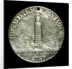 Badge commemorating the rebuilding of the Eddystone Lighthouse; obverse by unknown