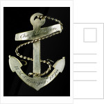 Badge commemorating HMS 'Ganges', 1870; obverse by unknown