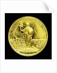 Medal commemorating the Peace of Utrecht, 1713; reverse by J. Croker