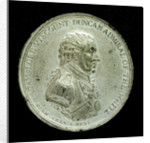 Badge commemorating the Battle of Camperdown, 1797 and Admiral of the Fleet, Adam Duncan (1731-1804); obverse by J.G. Hancock