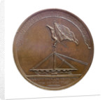 Badge commemorating the Battle of Camperdown, 1797 and Admiral of the Fleet, Adam Duncan (1731-1804); reverse by J.G. Hancock