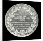Medal commemorating the 'Mediator' Frigate and Captain J. Wooldridge, 1809; reverse by unknown