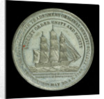 Medal commemorating the centenary of the Lutterworth Tradesmen's original Benefit Society, 1846; reverse by unknown