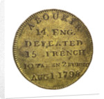 Counter commemorating Vice-Admiral Horatio Nelson (1758-1805) and the Battle of the Nile, 1798; reverse by unknown