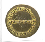Counter commemorating HMS 'Adventure' and 'Beagle', 1826-1827; reverse by unknown