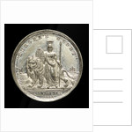 Counter commemorating Queen Victoria; reverse by Allen & Moore