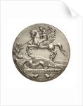 Medalet commemorating HMS 'Bellerophon'; obverse by V.B.