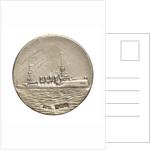 Medalet commemorating HMS 'Hampshire'; reverse by V. & S.