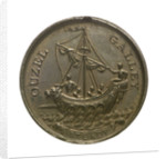 Medal commemorating the 'Ouzel Galley' Society; obverse by I. Parkes