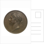 Medal commemorating Greek Independence and naval help from England; obverse by Benedetta Pistrucci
