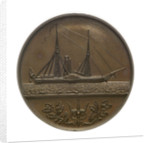Trial piece, Naval Engineers medal; reverse by W. Wyon