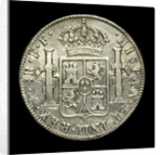 Eight reales; reverse by unknown