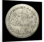 Engraved commemorative coin; reverse by unknown