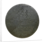 Engraved copper commemorative coin; obverse by unknown