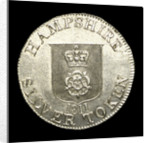 Hampshire shilling token; obverse by unknown
