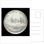 Medal commemorating HMS 'New Zealand'; reverse by W.R. Bock