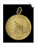 Medal commemorating the wreck of Hudson Bay Company steamer 'Beaver', 1892; obverse by C.W. McCain