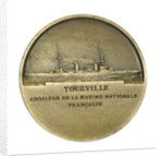 Medal commemorating Admiral de Tourville (1642-1701) and the cruiser 'Tourville'; reverse by J.A. Pingret