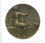 Medal commemorating The International Congress of Maritime Law; obverse by R.E. Lamourdedieu