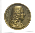 Medal commmemorating Governor Joseph Marquis Dupleix (1697-1763) and the cruiser 'Dupleix'; obverse by Louis Patriarche