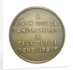 Medal commemorating the battleship 'Dunkerque'; reverse by Pierre Turin