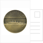 Medal commemorating the battleship 'Strasbourg'; reverse by P.A. Morlon