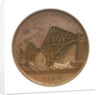 Medal commemorating the opening of the Forth Bridge, 1890; obverse by Lauer Bros.