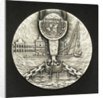 Medal commemorating the Suez Canal Clearance 1956-1957; obverse by M. Kutterink