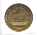 Medal commemorating the first Spanish expedition to the Isthmus of Panama, 1886; reverse by E. Arnaum