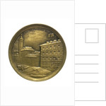 Token commemorating the National Maritime Exhibition of Cadiz, 1887; reverse by Ortells