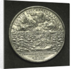 Medal commemorating the Duke of Saxony wrecked near Stockholm, 1702; reverse by C. Wermuth