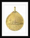 Medal commemorating the Italian cruiser 'Regina Elena' and the landing at Bengasi, 1911; obverse by S. Johnson