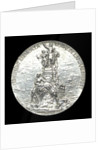 Medal depicting the Admiral Courbet memorial; obverse by H. Dubois
