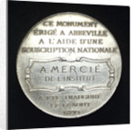 Medal depicting the Admiral Courbet memorial; reverse by H. Dubois