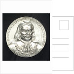 Medal commemorating the tercentenary of the birth of Admiral de Ruyter, 1997; obverse by J.J. van der Goor