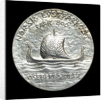 Medal commemorating the Oseberg ship; reverse by J. Throndson