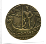 Medal commemorating Sir Edward Grey (1862-1933) and neutral shipping; obverse by Karl Goetz