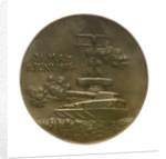 Medal commemorating Admiral Rheinhold von Scheer (1863-1928) and the Battle of Jutland, 1916; reverse by Hugo Kaufmann