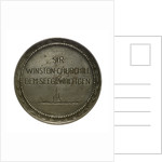 Medal commemorating Winston Churchill (1874-1965) First Lord of the Admiralty; reverse by W. Eberbach