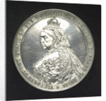 Medal commemorating the naval review at Spithead, 1889; obverse by L.C. Lauer