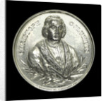 Medal commemorating Christopher Columbus (1451-1506) and the fourth centenary of the discovery of America, 1892; obverse by J. Christensen