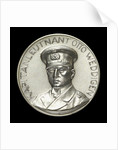 Medal commemorating the destruction of the English armoured cruisers 'Aboukir', 'Hogue' and 'Cressy' by 'U9', 1914; obverse by H. Ziegler