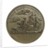 Medal commemorating Captain Isaac Hull (1773-1843) and the action between USS 'Constitution' and HMS 'Guerriere', 1812; reverse by M. F