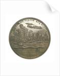 Medal commemorating Commander Jesse Elliott and the battle of Lake Erie, 1813; reverse by Moritz Furst