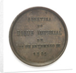 Medal commemorating the opening of the Imperial Dock, Rio de Janeiro, 1861; reverse by C. L