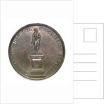 Commemorative medal depicting the Cochrane memorial at Valparaiso; obverse by Abraham Dubois
