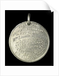 Medal commemorating the Grinnell Arctic Expedition, 1851; reverse by G.H. Lovett