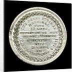 Medal commemorating the action in Hampton Roads, 1862; reverse by unknown